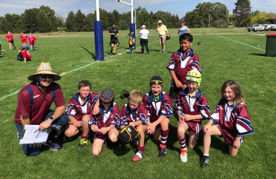 TEAMWORK: St Joseph's School students played hard all day at the David Peachey Shield and Russell Richardson Cup Rugby League Gala Day.